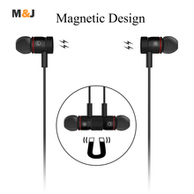 New Bluetooth 4.1 Wireless Sport Running Earphone Stereo In-ear Magnet Earbud With Microphone Earphone For iphone Sumsang Xiaomi(China (Mainland))