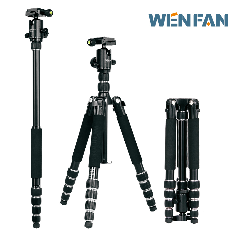 FREE SHIPPING WENFAN T-520 light short travel photography Professional SLR camera tripod portable tripod head WHOLESALE(China (Mainland))