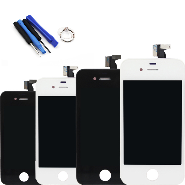 Black or white For iPhone 4 4G LCD Display Touch Screen Digitizer Bezel Frame Tools Replacement Part Assembly Free Shipping!!!