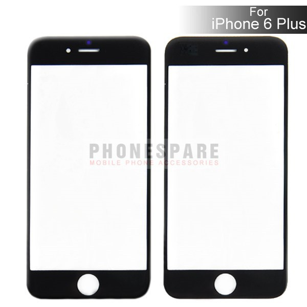 """CN 10PCS/LOT Black and Whit color For iPhone 6 plus 5.5"""" Front Outer Screen Glass Lens Cover Replacement Digitizer(Hong Kong)"""