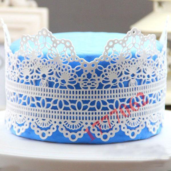 Hot Beautiful Flower design instant fondant silicone lace mold cake mold baking tools cake decorating tools free shipping(China (Mainland))