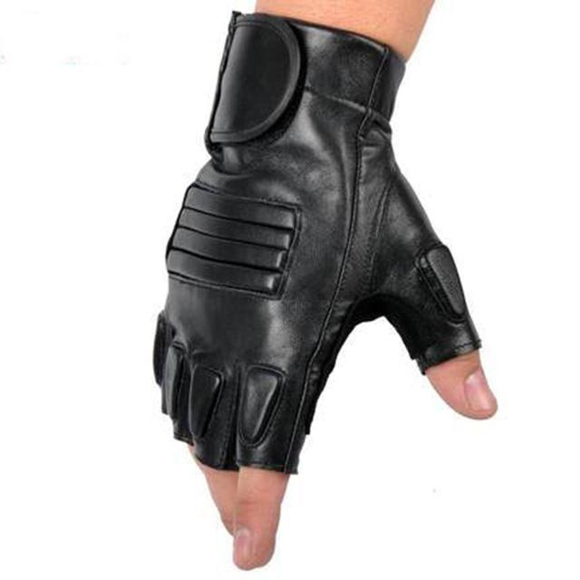Новый стиль мужские искусственная кожа тренажерный зал перчатки половину палец фитнес ...