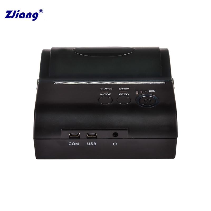 Wireless mini Bluetooth Receipt Barcode thermal printer, bill pos printer ZJ-8001DD<br><br>Aliexpress