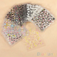 10 Sheets Nail Art Transfer Stickers 3D Design Manicure Tips Decal Decorations 1U85 4BF8(China (Mainland))