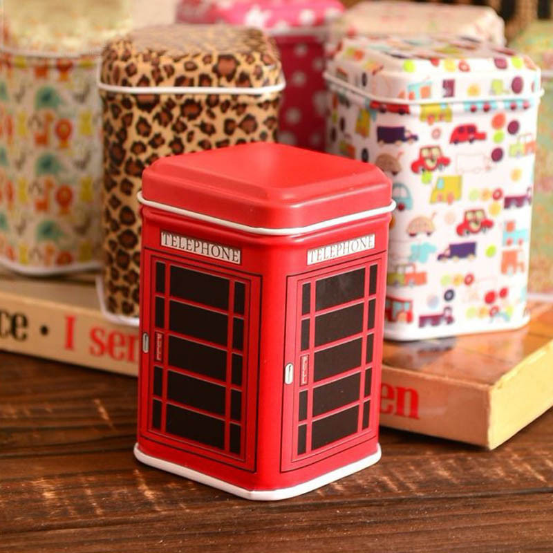 Selljimshop Vestidos Metal Candy Trinket Tin Jewelry Iron Tea Coin Storage Square Box Case(China (Mainland))
