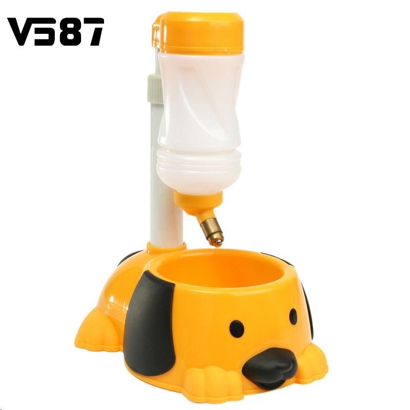 Plastic Automatic Water Bottle Feeder Pet Dog Animal Food New Rabbit Hamster Feeding Hanging Bowl Dish Drinking Dispenser(China (Mainland))