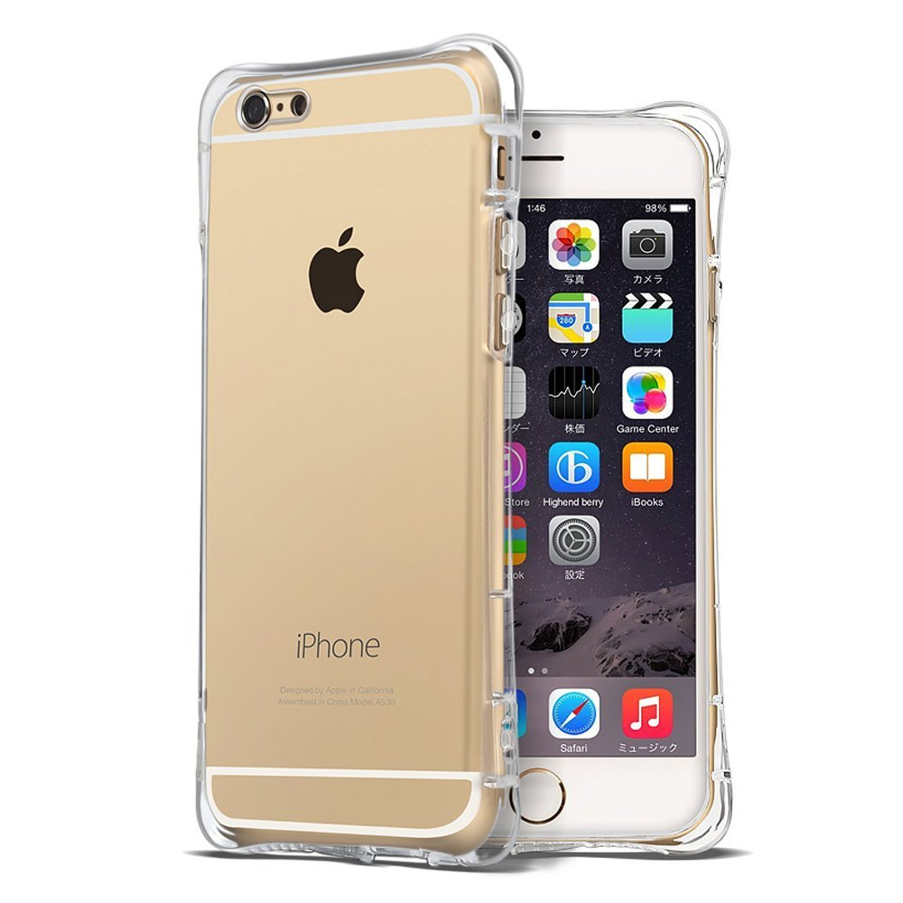 For fundas iPhone 6s Case iPhone 6 Case Bumper Cover with Shockproof Protective Cushion Corner Scratch-Proof Case Crystal Clear(China (Mainland))