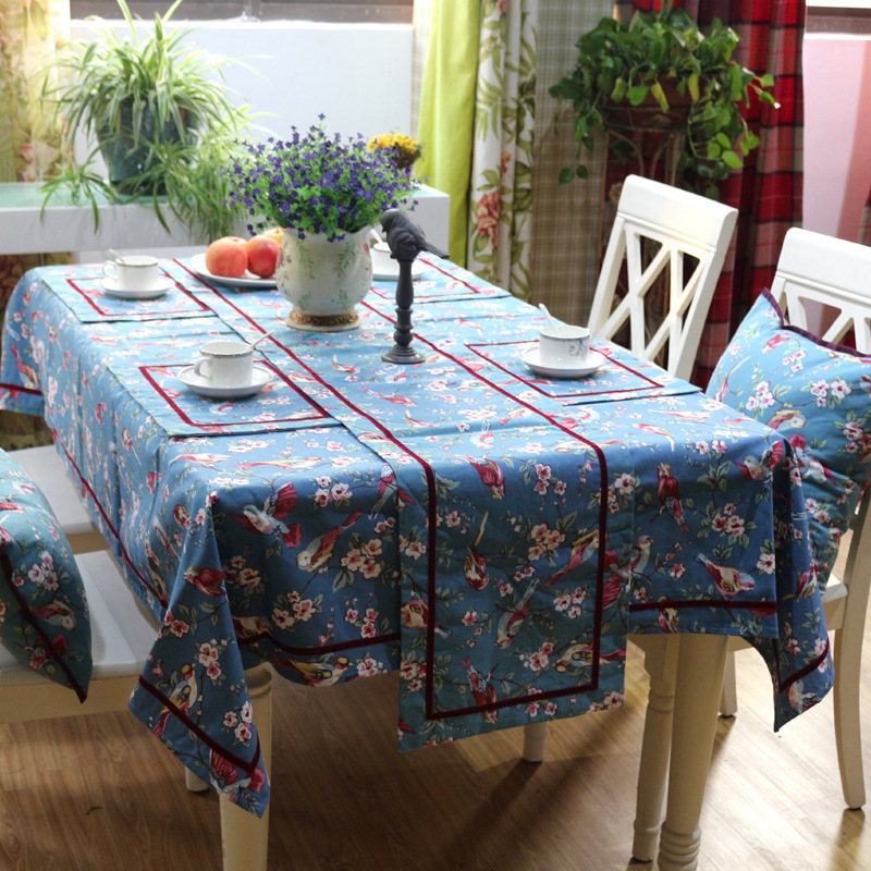New deals fashion small fresh flowers and high-grade cotton printed printing table runner home decoration wholesale(China (Mainland))