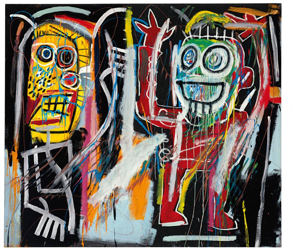 "Graffiti painted wall art Michel Basquiat Neo-Expressionism woven fabric poster 28"" x24"" 16"" x13"" Decor- 06(China (Mainland))"