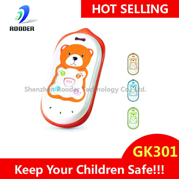 GPS tracker kids cell phone GK301 CUTE quadband children phone web-based GPS tracking system protect our kids