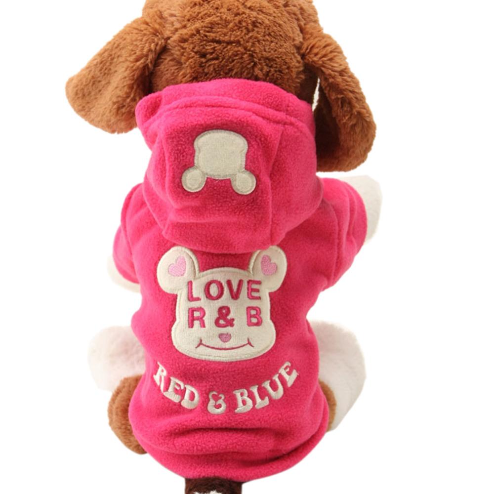 2016 Pets Warm Sweater Dog Clothes Cute Cartoon Bear Hoodie Puppy Coat Apparel(China (Mainland))