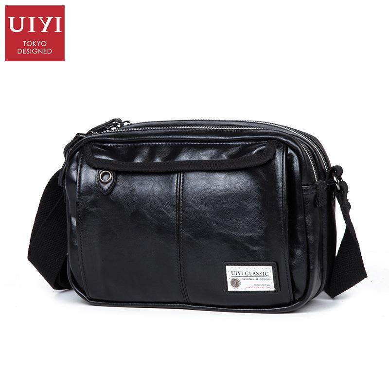 UIYI leisure small bag youth men's bag PU leather Shoulder Messenger bag Korea waterproof sports bag for IPAD Yoshida(China (Mainland))