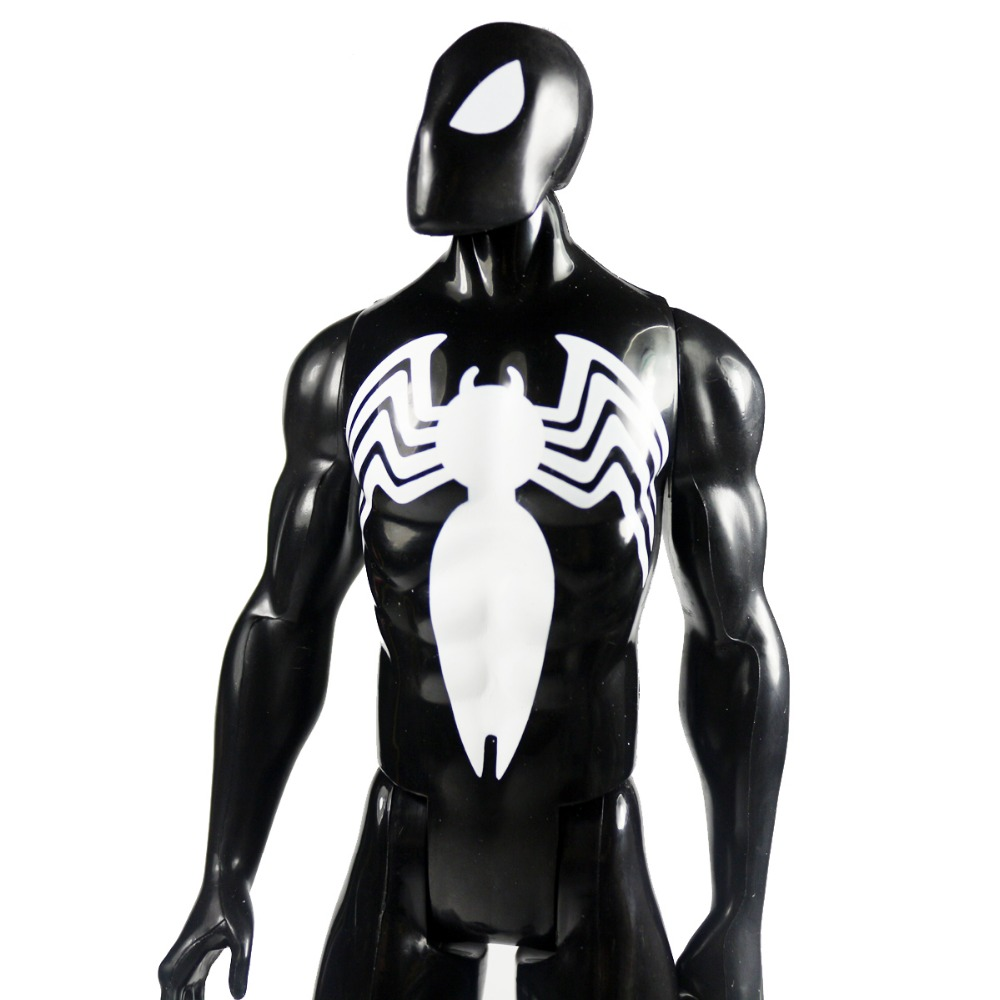 "Marvel Ultimate Spider-Man Titan Hero Series Black Suit Spiderman Figure 11.5"" DC003030(China (Mainland))"