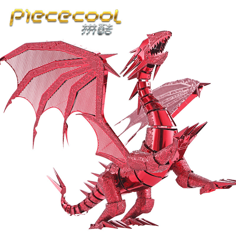 Dragon flame Model 3D laser cutting Jigsaw puzzle DIY Metal model Nano Puzzle Kids Educational Puzzles Toys for Children(China (Mainland))