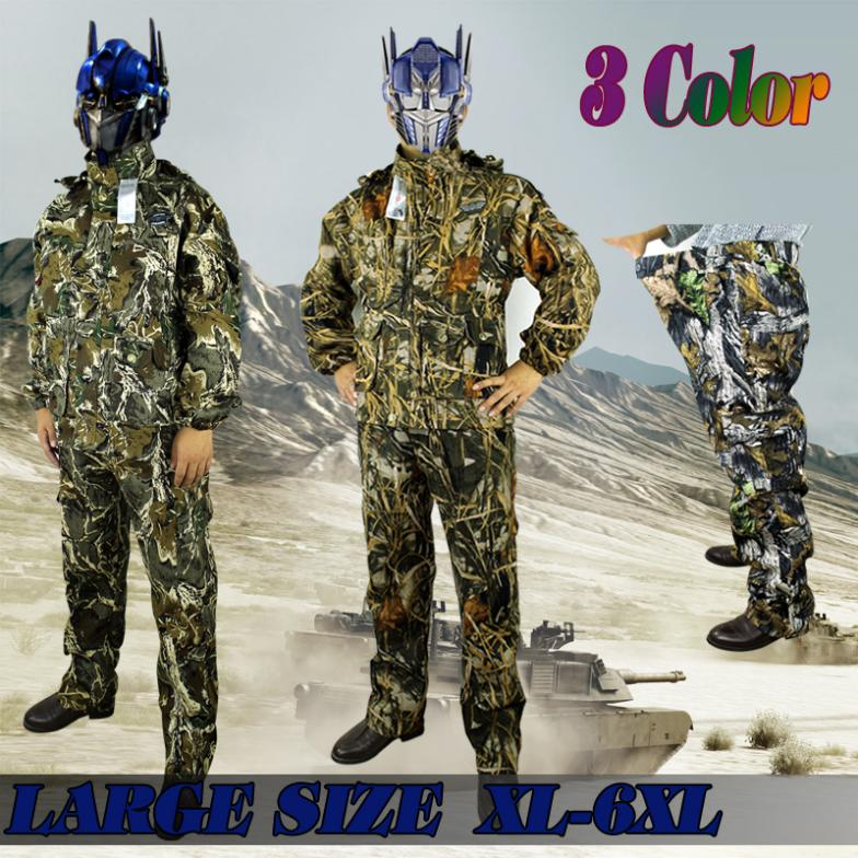 New camouflage ghillie suit camouflage hunting suit birdwatch airsoft paintball fishing training uniform camping Large Size 6xl(China (Mainland))