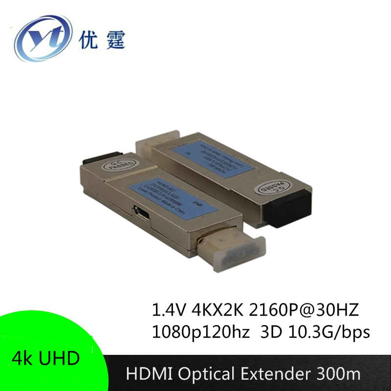 Free shipping 4K UHD HDMI Optical Extender 300m 2LC TO 2LC om3  Full HD 1080P 4K*2K 3D10.2Gbps/340MHz<br><br>Aliexpress