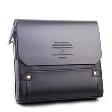 New 2015 Hot Sold Men Messenger bags Men Handbags Top PU Leather polo Bag Fashion Men
