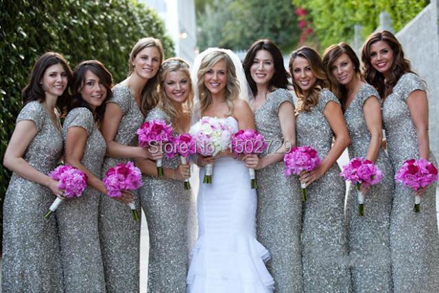 Online Get Cheap Silver Modest Bridesmaid Dresses -Aliexpress.com ...