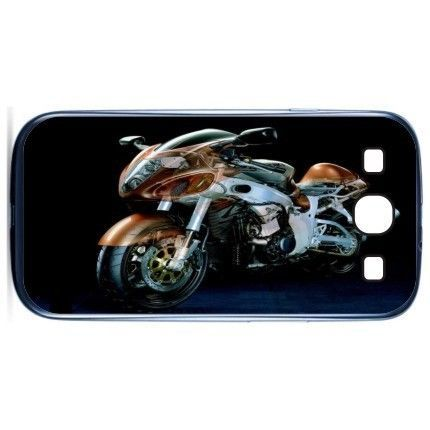 Free Shipping Gold Bike Motorcycle Plastic Cell Phone Cases Cover Case For Samsung Galaxy S3 I9300(China (Mainland))