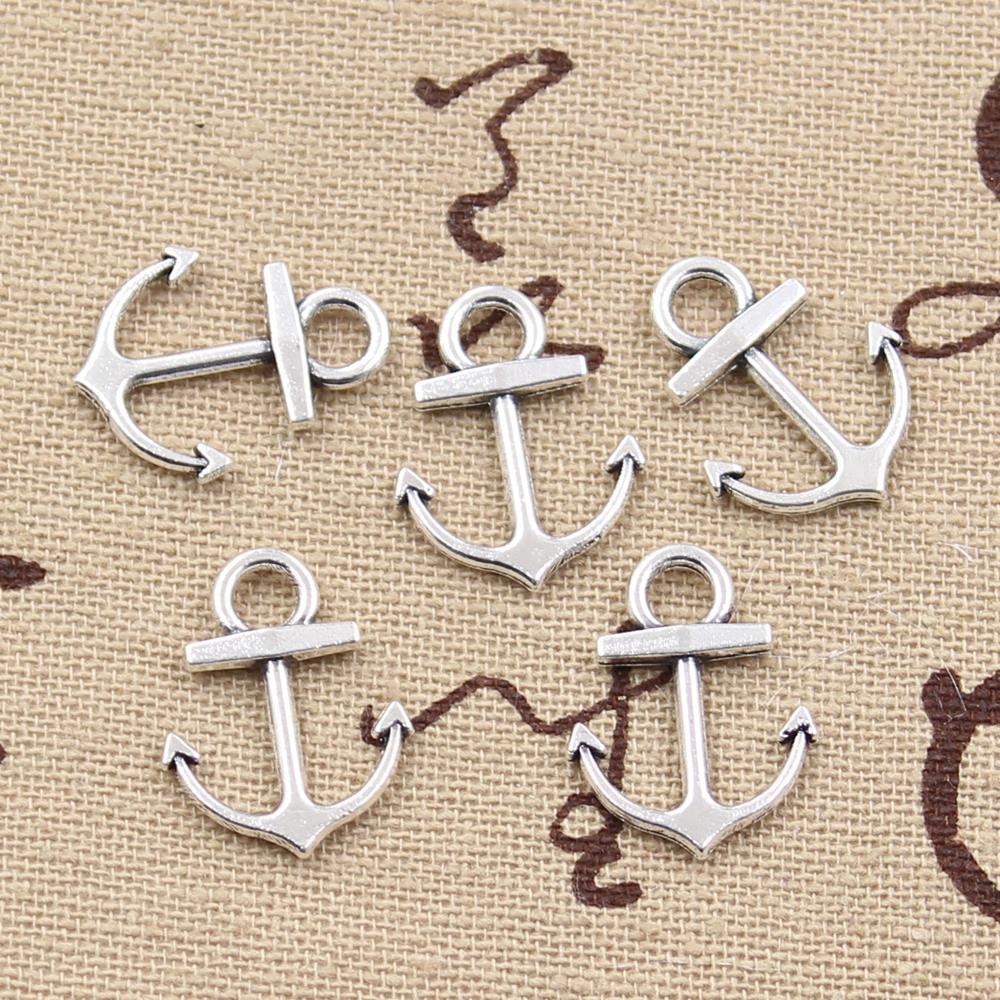 30pcs Charms anchor sea 19*15mm Antique,Zinc alloy pendant fit,Vintage Tibetan Silver,DIY for bracelet necklace(China (Mainland))