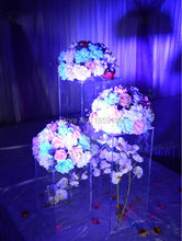 40cm Tall 10pieces Square Transparent Acrylic Wedding Centerpiece/Wedding Road Lead(China (Mainland))
