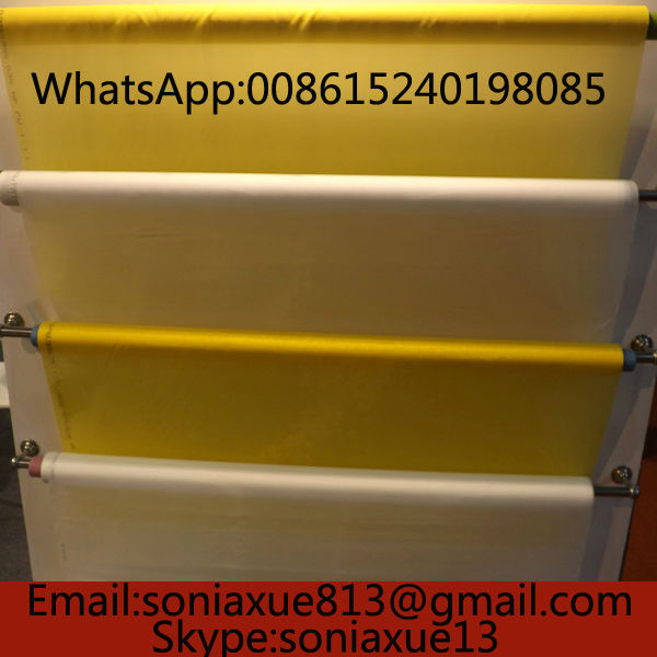 Fast Delivery! 77T/195Mesh 55um 165cm Yellow Polyester Printing Screen Fabric(China (Mainland))