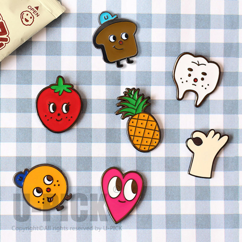 U PICK 2015 New Design Wholesale Breastpin for Girls Original Interesting Brooches Copper Pins Free Shipping