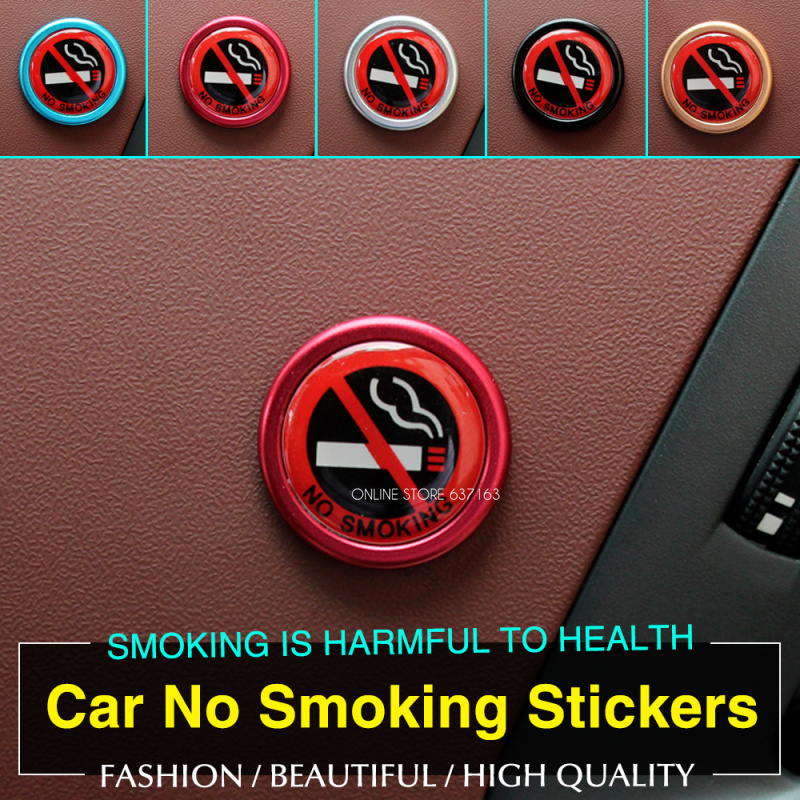 Car Styling No Smoking Logo Stickers Fit For Jeep Commander Compass Grand Cherokee Liberty Patriot Wrangler(China (Mainland))