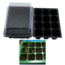 2015*New Durable 12 Cells Hole Plant Seeds Grow Box Tray Insert Case quality* plastic*Plant Seeds Grow Box(China (Mainland))