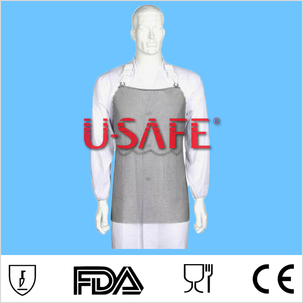 U-SAFE Chainmail Stainless Steel Apron Body Armor cut resistant apron slaughterhouse apron(China (Mainland))