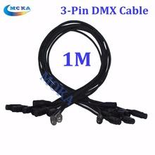 10 шт./лот 1 м длина 3-pin подключение сигнала DMX кабель для профессионального освещения сцены