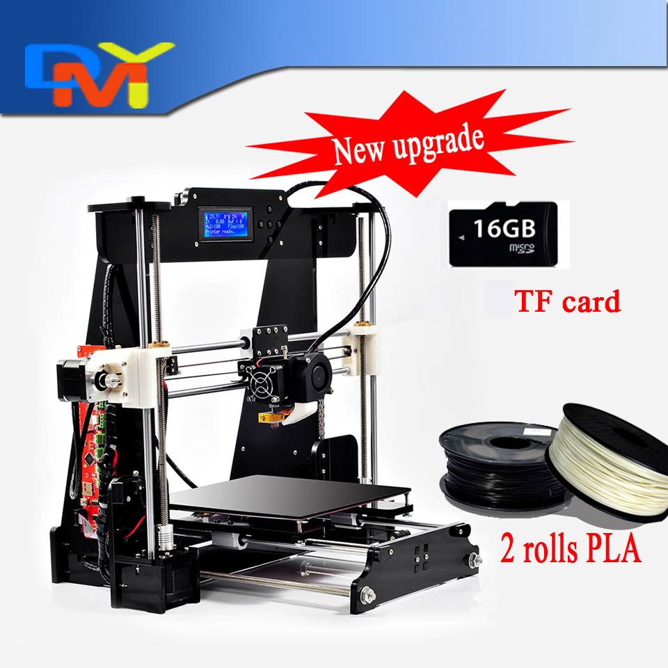 2016 Upgraded Quality High Precision Reprap Prusa i3 DIY 3d Printer kit with 2 Rolls Filament