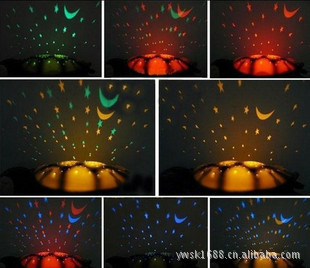 Music turtle lamp starry sky projector lamps star light projector sleep hypnosis lamp small night light light-up toy(China (Mainland))