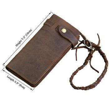 100% crazy-лошадь кожаный бумажник кошелек мужчины старинные натуральная кожа кошельки ...