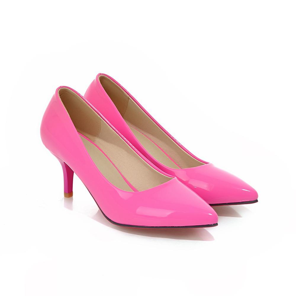 Patent Pink Heels