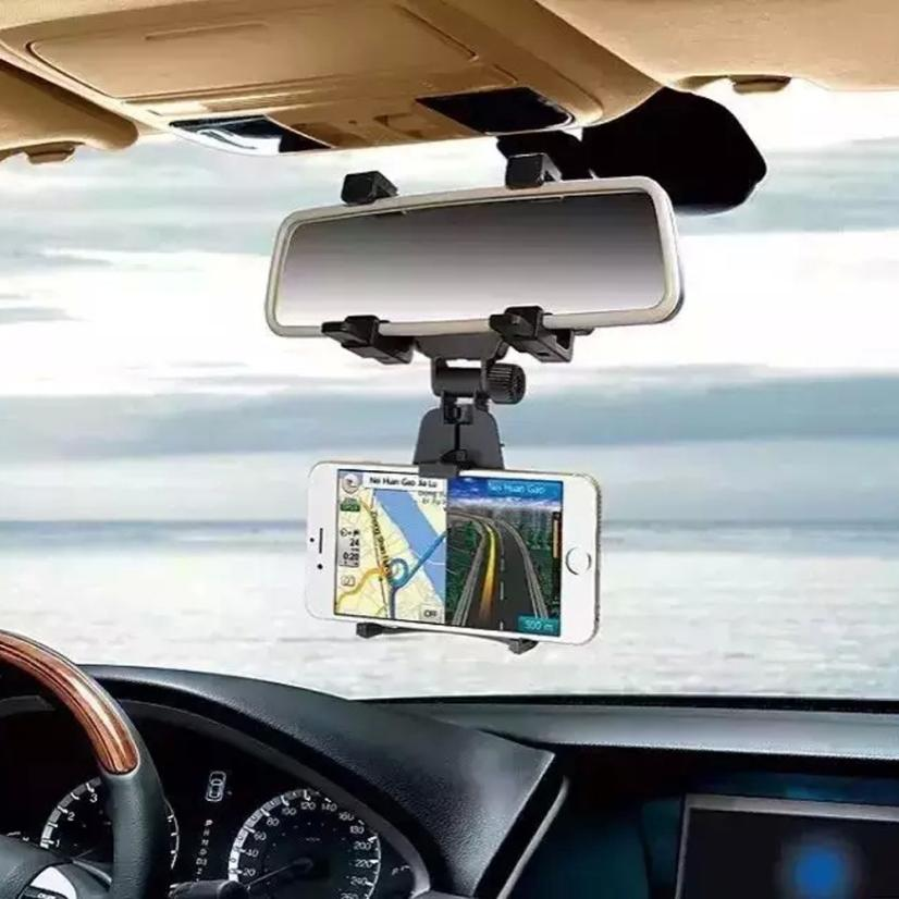 car mobile holder Car Rearview Mirror Mount Holder Stand Cradle For Cell Phone GPS Free Shipping Yun(China (Mainland))