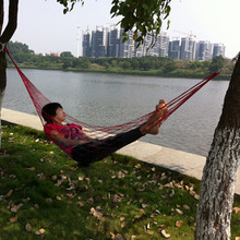 Nylon Hammock Hanging Mesh Sleeping Bed Swing Outdoor Camping Travel