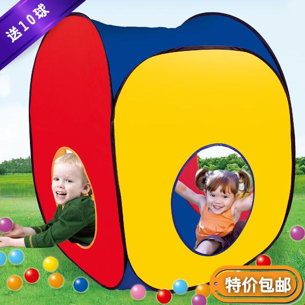[해외]어린이 & 39;의 퍼즐 게임 텐트 소꿉 놀이 어린이 생일 선..