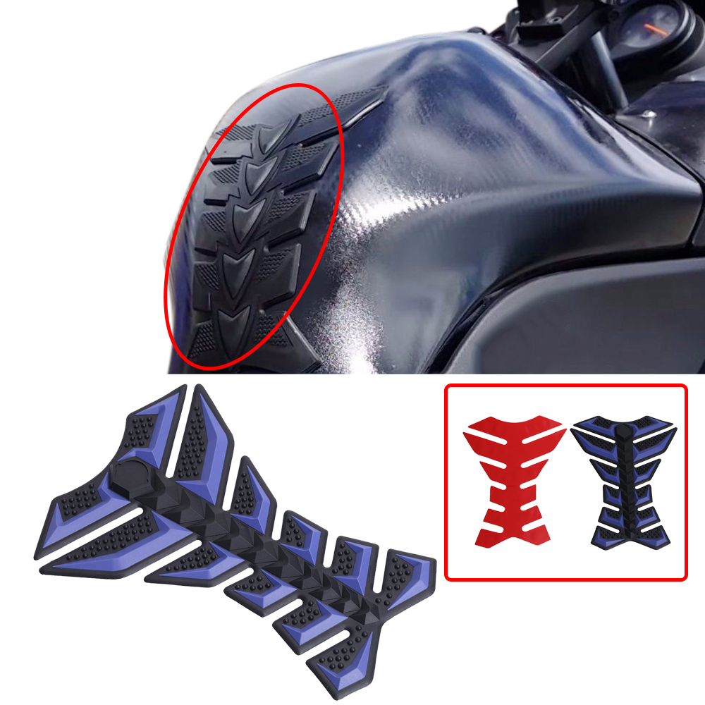 Cool sticker design for bike - Cool Motorcycle Sticker 3d Rubber Fish Bone Gas Fuel Tank Protector Decal Cover With 3m Adhesive For Harley Most Bikes Mbg250 B
