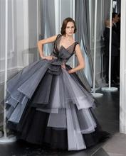 popular black and white prom dress