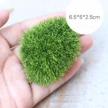 Fake Mini verde musgo piedra para Micro paisaje del jardín ornamentos naturaleza falso para la decoración herramientas de jardinería Bonsai(China (Mainland))