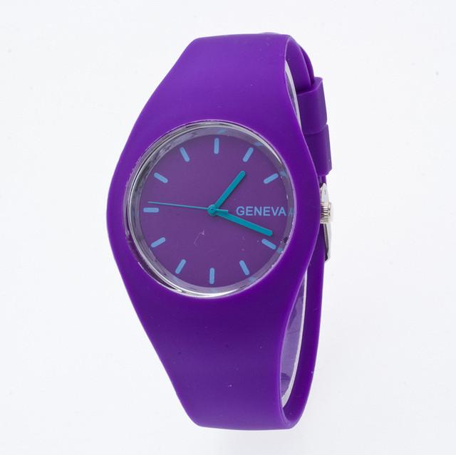 Zegarek damski GENEVA cukierkowe kolory sylikonowa opaska