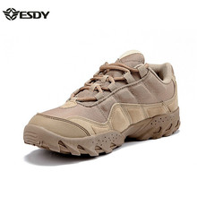 Outdoor Desert Boots The U.S. Military Assault Tactical Boots Breathable Wear Slip Men Casual Travel Hiking Shoes Botas Tacticas