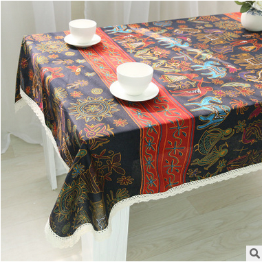 High quality 3 d Chinese national style and contracted hand-made embroidery tablecloth table cloth(China (Mainland))