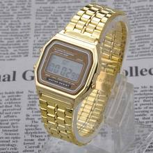 2015 Fashion Vintage Watches Electronic Digital Display Retro style Watch Gold Silver FMHM102#M1