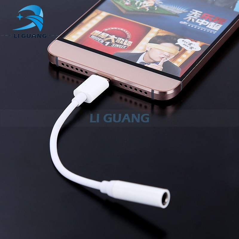 Type-C Cable To Audio Port Adapter 3.5mm Earphones Headphones Connector Type C For Letv Le 2 / Pro / Letv Max2 Mobile phones