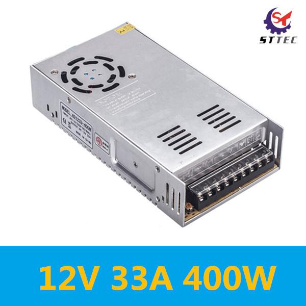 Free shipping High quality 400W switch power supply 12V 33A 400W switch converter, DC 110-220V to AC 12V power supply inverter<br><br>Aliexpress