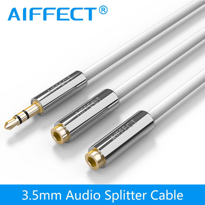 AIFFECT Jack 3.5 mm AUX Auxiliary Extension Cable A Male to Two Female Audio Cable AUX Y Splitter Cord Line Sales Promotion(China (Mainland))