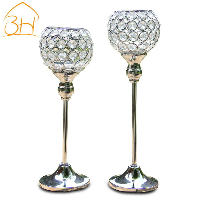 wedding decoration,home decor , candle holders, crystal candle holder , free shipping,wedding candlestick,(China (Mainland))