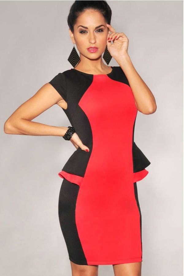 Color Block Evening Dress